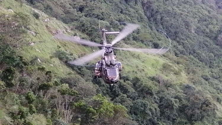 An army helicopter was called in after a man fell down a cliff in rural KZN on Wednesday.