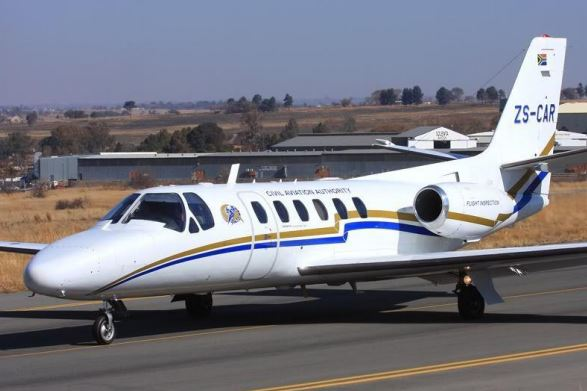 The CAA's Cessna Citation flight inspection aircraft which is believed to have crashed near Mossel Bay on January 23 2020.