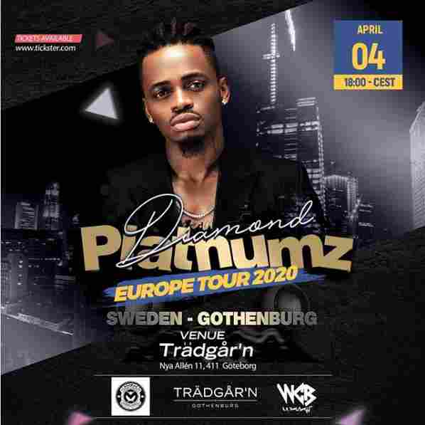 Diamond Platnumz moves performance venue from Stockholm to Gothenburg
