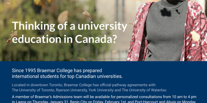 Thinking of Studying in a Top Canadian University? The opportunity is here!